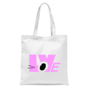 Love Wink Tote Bag - White