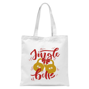 Jingle (Kettle) Bells Tote Bag - White