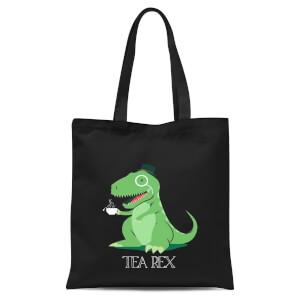 Tea Rex Tote Bag - Black