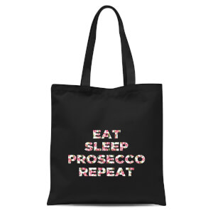 Eat Sleep Prosecco Repeat Tote Bag - Black