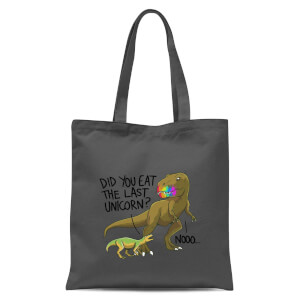 Did You Eat The Last Unicorn? Tote Bag - Grey