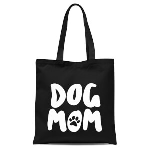 Dog Mom Tote Bag - Black