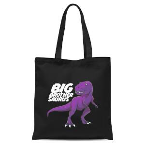 Im A Big Brothersaurus Tote Bag - Black