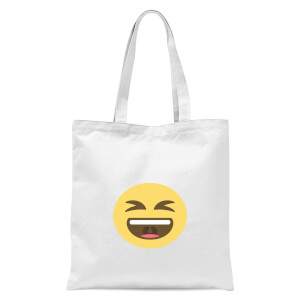 LOL Face Tote Bag - White