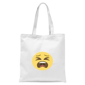 Tantrum Face Tote Bag - White