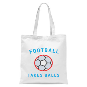 Football Takes Balls Tote Bag - White