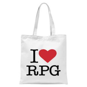 I Love RPG Tote Bag - White