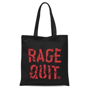 Rage Quit Tote Bag - Black