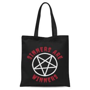 Sinners Are Winners Tote Bag - Black