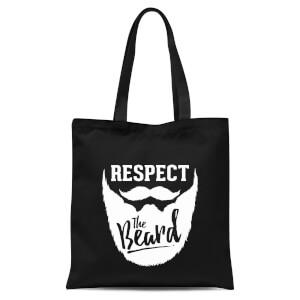 Respect The Beard Tote Bag - Black