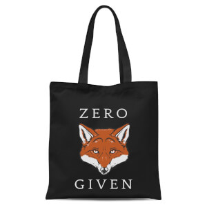 Zero Fox Given Tote Bag - Black