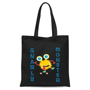Gnarly Monster Tote Bag - Black