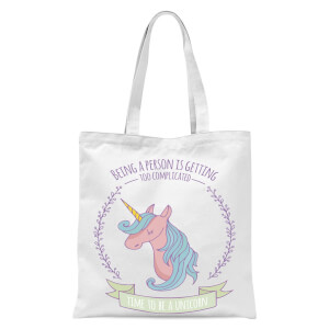 Time To Be A Unicorn Tote Bag - White
