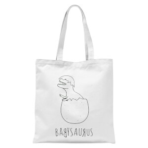 Babysaurus Tote Bag - White