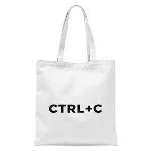 CTRL C Tote Bag - White