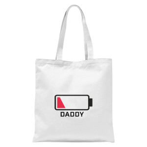 Daddy Batteries Low Tote Bag - White