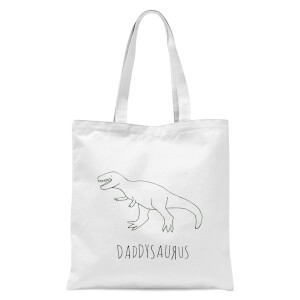 Daddysaurus Tote Bag - White