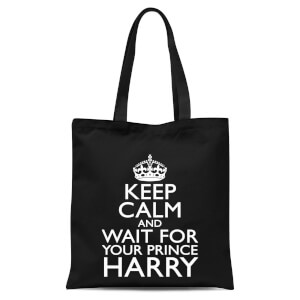 Keep Calm Wait Tote Bag - Black