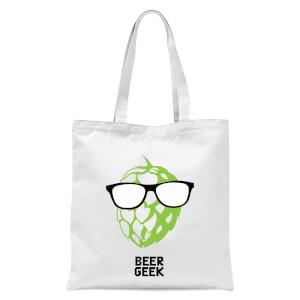 Beer Geek Tote Bag - White