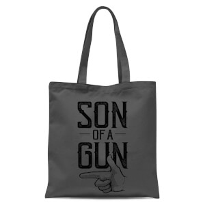 Son Of A Gun Tote Bag - Grey