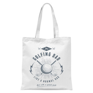 Golfing Dad Tote Bag - White