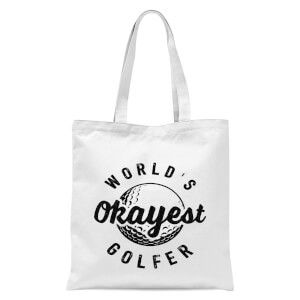 World's Okayest Golfer Tote Bag - White