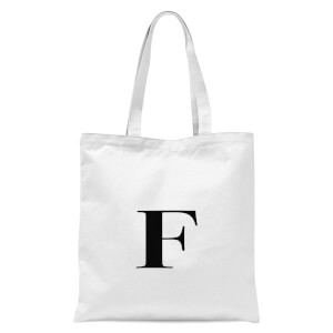 F Tote Bag - White
