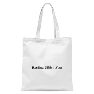 Resting Witch Face Tote Bag - White