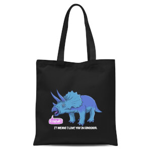 International Women's Day Rawr It Means I Love You In Dinosaur Tote Bag - Black