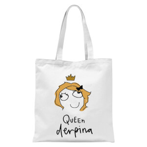 International Women's Day Queen Derpina Tote Bag - White