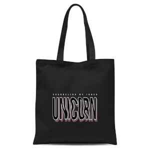 International Women's Day Channeling My Inner Unicorn Tote Bag - Black