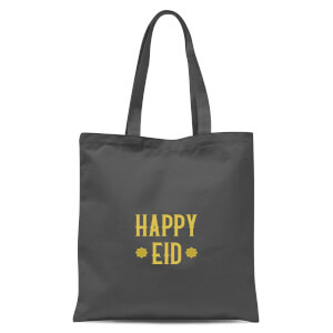 International Women's Day Happy Eid Gold Tote Bag - Grey