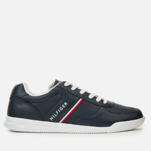 Tommy Hilfiger Men's Lightweight Leather Trainers - Midnight