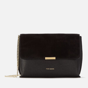 Ted Baker Women's Lisa Suede Bar Detail Cross Body Bag - Black