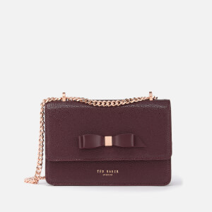 Ted Baker Women's Jayllaa Bow Detail Micro Cross Body Bag - Oxblood