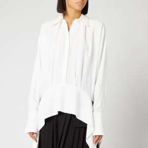 Victoria, Victoria Beckham Women's Side Tie Shirt - Ivory