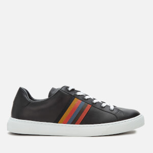 Paul Smith Men's Hansen Leather Cupsole Trainers - Black Artist Stripe