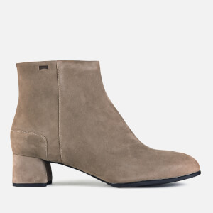 Camper Women's Katie Suede Heeled Ankle Boots - Tan