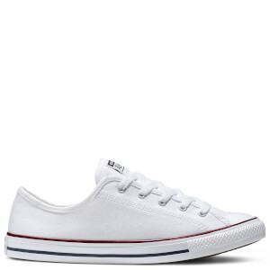 Converse Women's Chuck Taylor All Star Dainty Basic Canvas Ox Trainers - White/Red/Blue