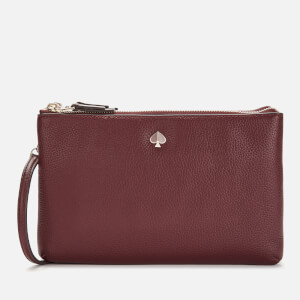 Kate Spade New York Women's Polly Medium Double Gusset Cross Body Bag - Cherrywood