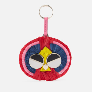 Kate Spade New York Women's Spademals Raffia Preeny Peacock Dangle - Hibiscus Tea Multi