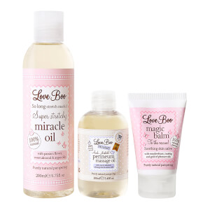 Love Boo Mum-to-be Survival Kit including 200ml Miracle Oil, Perineum Oil and Magic Balm (Worth £52.97)