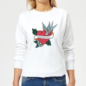 Grandad Heart Women's Sweatshirt - White