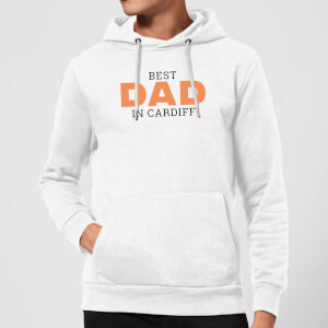 Best Dad In Cardiff Hoodie - White