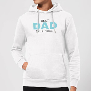 Best Dad In London Hoodie - White