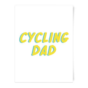 Cycling Dad Art Print