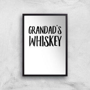 Grandad's Whiskey Art Print
