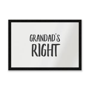 Grandad's Right Entrance Mat