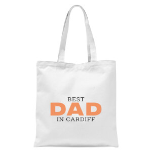 Best Dad In Cardiff Tote Bag - White