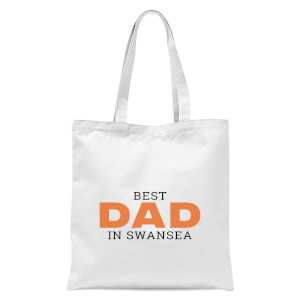 Best Dad In Swansea Tote Bag - White
